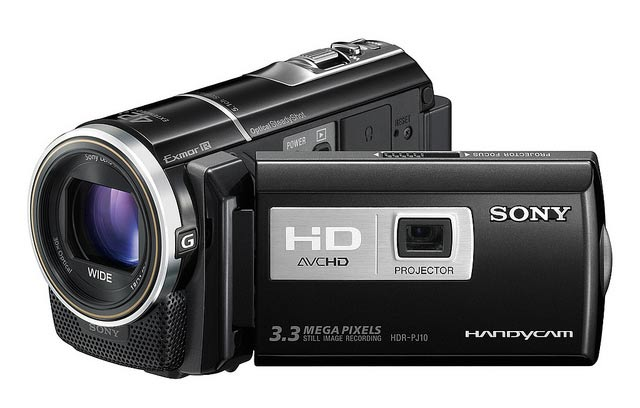 Sony Introduces Camcorders With Built-In Projectors