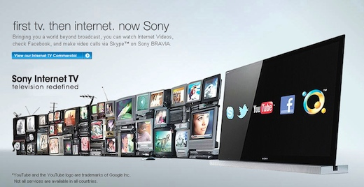 Sony Launches Internet TV range