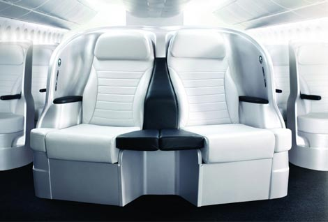 Premium economy seating aboard Air NZ