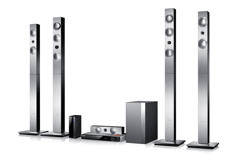 "Samsung's HT-F9750W home theatre system with ""vacuum"" amp."