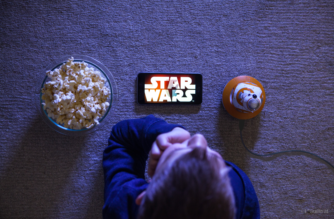 Watching A Movie With A Droid