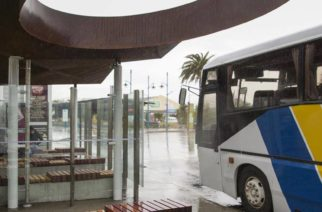 Blenheim's silly bus shelter hole that lets the rain in